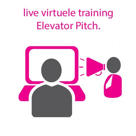 Live virtuele training Elevator Pitch